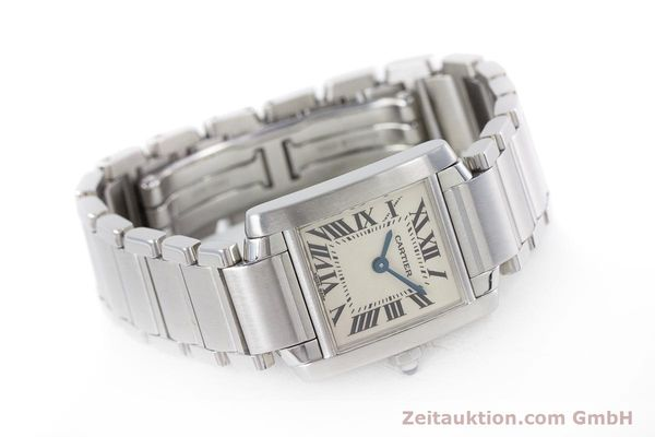 Used luxury watch Cartier Tank steel quartz Kal. 057 Ref. 2384  | 153370 03