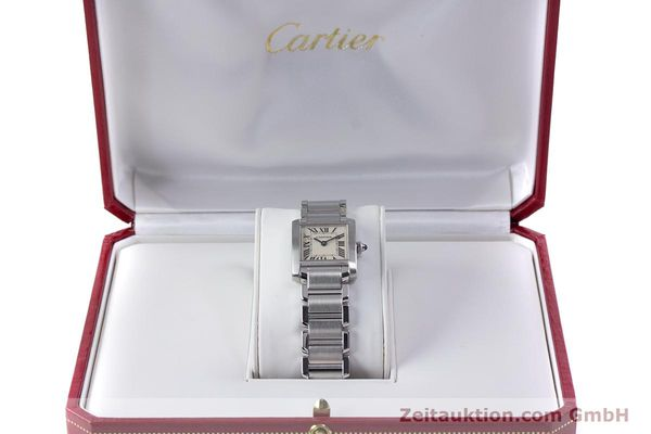 Used luxury watch Cartier Tank steel quartz Kal. 057 Ref. 2384  | 153370 07
