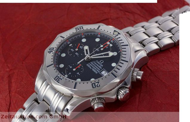 Used luxury watch Omega Seamaster chronograph steel automatic Kal. 1154 Ref. 25988000  | 153376 01
