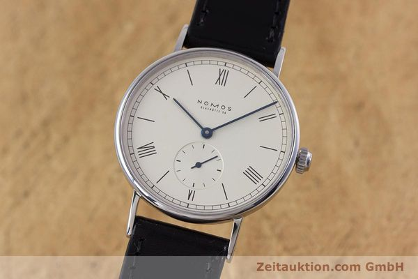 Used luxury watch Nomos Ludwig steel manual winding Kal. ETA 7001  | 153378 04