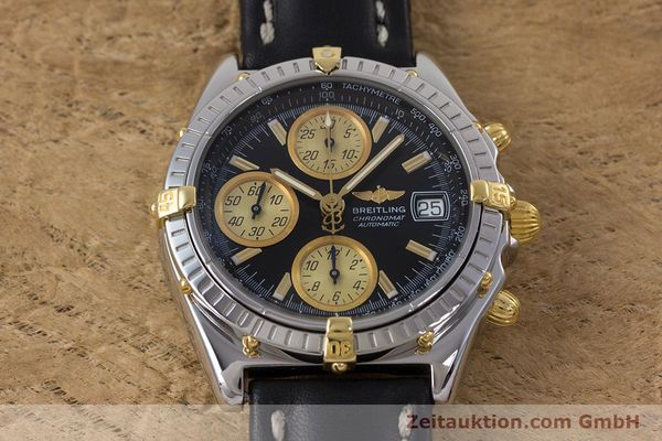 Used luxury watch Breitling Chronomat chronograph steel / gold automatic Kal. B13 ETA 7750 Ref. B13048  | 153383 14