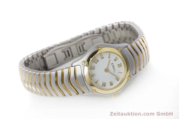 Used luxury watch Ebel Classic Wave steel / gold quartz Kal. 157 Ref. 1157F11  | 153391 03