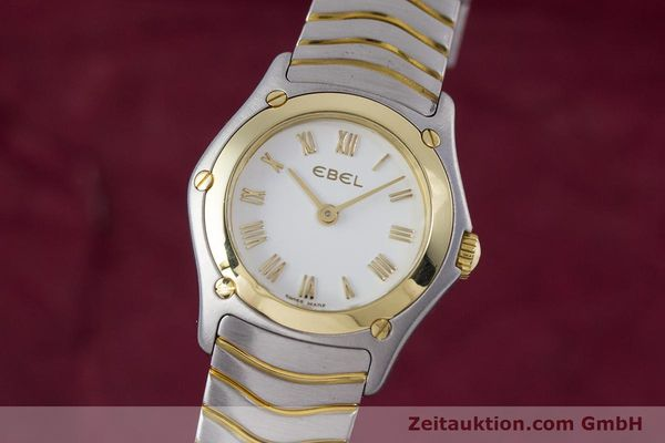 Used luxury watch Ebel Classic Wave steel / gold quartz Kal. 157 Ref. 1157F11  | 153391 04