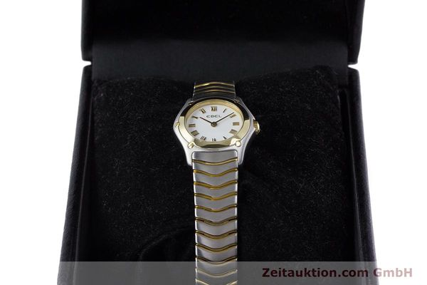 Used luxury watch Ebel Classic Wave steel / gold quartz Kal. 157 Ref. 1157F11  | 153391 07