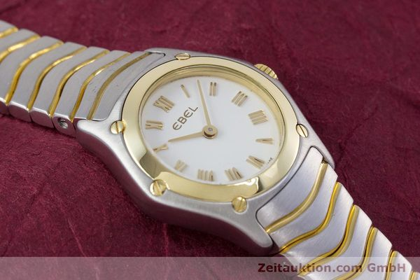 Used luxury watch Ebel Classic Wave steel / gold quartz Kal. 157 Ref. 1157F11  | 153391 13