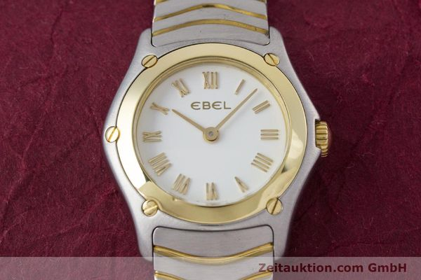 Used luxury watch Ebel Classic Wave steel / gold quartz Kal. 157 Ref. 1157F11  | 153391 14