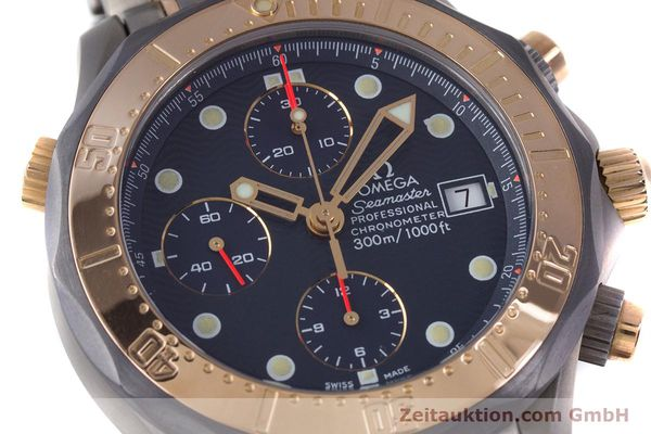 Used luxury watch Omega Seamaster chronograph titanium / gold automatic Kal. 1154 ETA 7750  | 153395 02