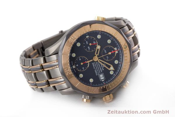 Used luxury watch Omega Seamaster chronograph titanium / gold automatic Kal. 1154 ETA 7750  | 153395 03