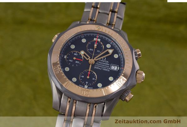 Used luxury watch Omega Seamaster chronograph titanium / gold automatic Kal. 1154 ETA 7750  | 153395 04