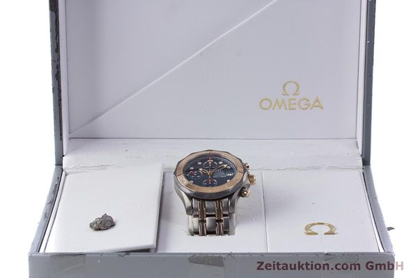 Used luxury watch Omega Seamaster chronograph titanium / gold automatic Kal. 1154 ETA 7750  | 153395 06
