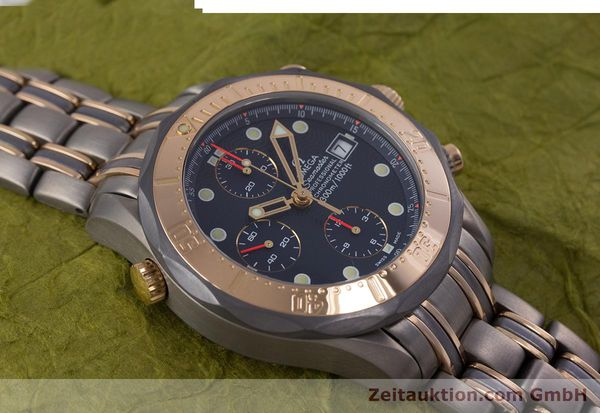 Used luxury watch Omega Seamaster chronograph titanium / gold automatic Kal. 1154 ETA 7750  | 153395 15
