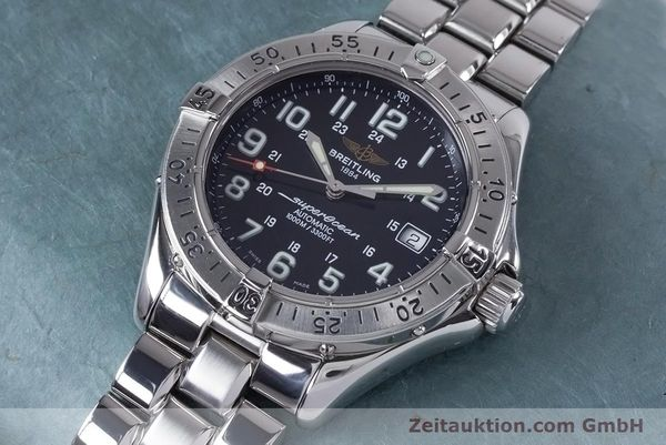 Used luxury watch Breitling Superocean steel automatic Kal. B17 ETA 2824-2 Ref. A17340  | 153417 01