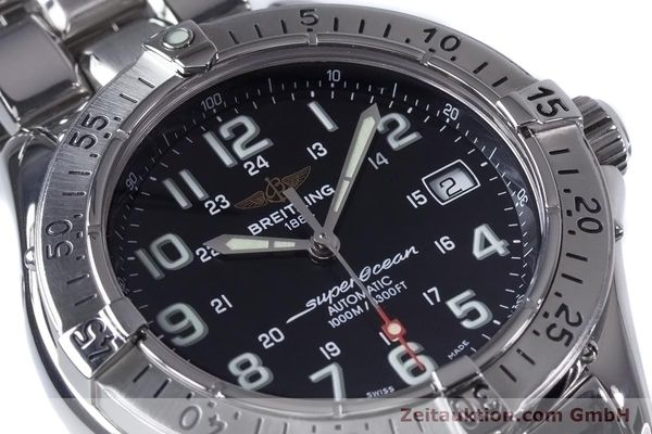 Used luxury watch Breitling Superocean steel automatic Kal. B17 ETA 2824-2 Ref. A17340  | 153417 02