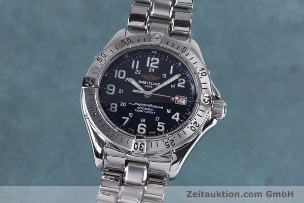 Used luxury watch Breitling Superocean steel automatic Kal. B17 ETA 2824-2 Ref. A17340  | 153417 04
