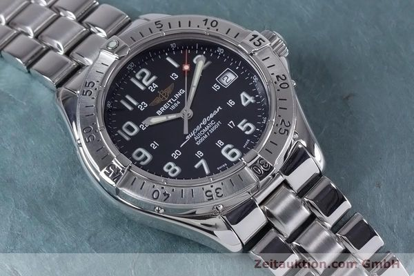 Used luxury watch Breitling Superocean steel automatic Kal. B17 ETA 2824-2 Ref. A17340  | 153417 16