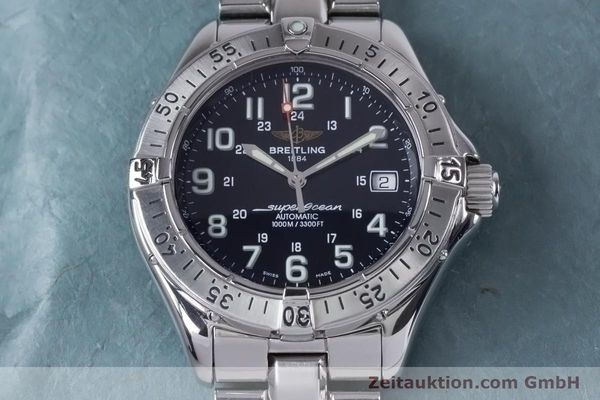 Used luxury watch Breitling Superocean steel automatic Kal. B17 ETA 2824-2 Ref. A17340  | 153417 17
