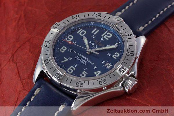 Used luxury watch Breitling Superocean steel automatic Kal. B17 ETA 2824-2 Ref. A17340  | 153420 01