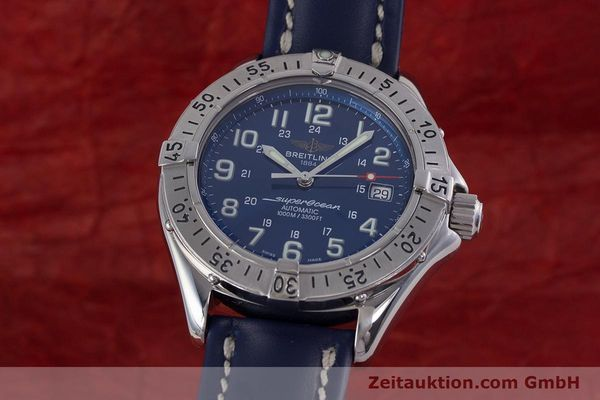 Used luxury watch Breitling Superocean steel automatic Kal. B17 ETA 2824-2 Ref. A17340  | 153420 04