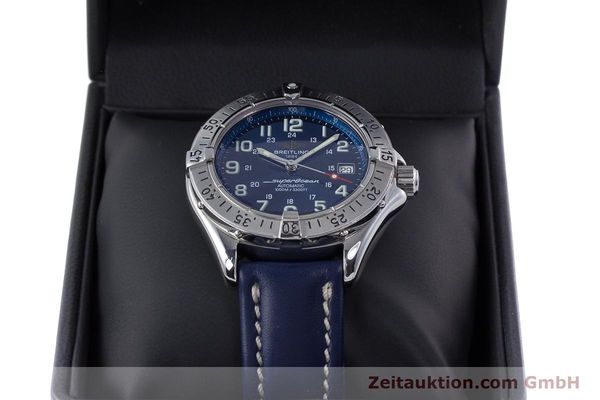 Used luxury watch Breitling Superocean steel automatic Kal. B17 ETA 2824-2 Ref. A17340  | 153420 07
