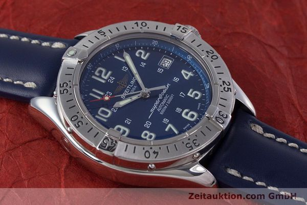 Used luxury watch Breitling Superocean steel automatic Kal. B17 ETA 2824-2 Ref. A17340  | 153420 13