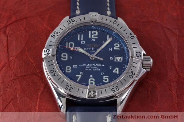 Used luxury watch Breitling Superocean steel automatic Kal. B17 ETA 2824-2 Ref. A17340  | 153420 14