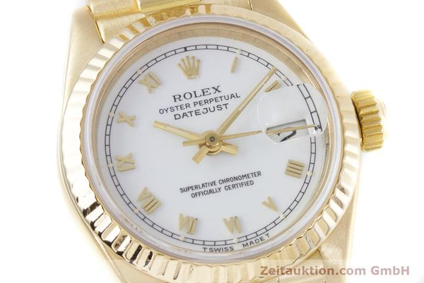 Used luxury watch Rolex Lady Datejust 18 ct gold automatic Kal. 3135 Ref. 69178  | 153429 02