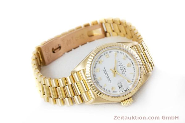 Used luxury watch Rolex Lady Datejust 18 ct gold automatic Kal. 3135 Ref. 69178  | 153429 03