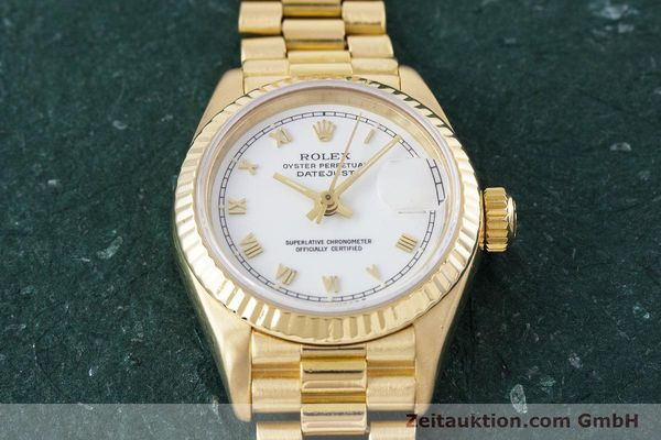 Used luxury watch Rolex Lady Datejust 18 ct gold automatic Kal. 3135 Ref. 69178  | 153429 17