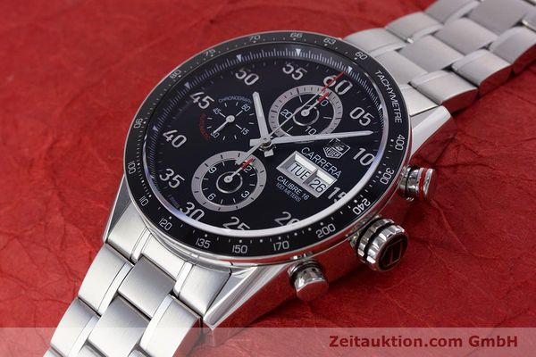 Used luxury watch Tag Heuer Carrera chronograph steel automatic Kal. 16 Ref. CV2410  | 153434 01