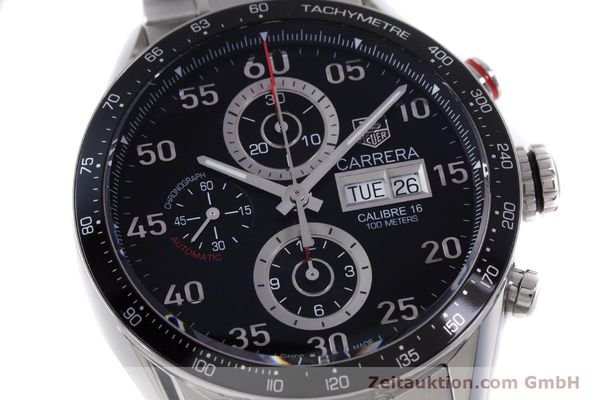 Used luxury watch Tag Heuer Carrera chronograph steel automatic Kal. 16 Ref. CV2410  | 153434 02