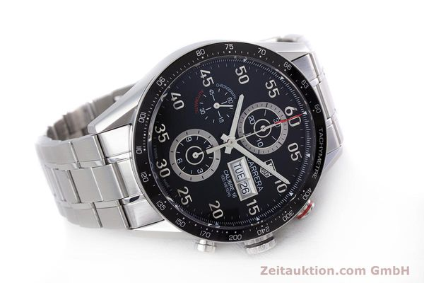 Used luxury watch Tag Heuer Carrera chronograph steel automatic Kal. 16 Ref. CV2410  | 153434 03
