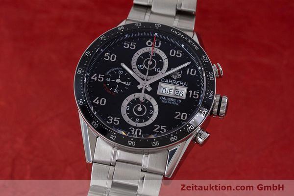 Used luxury watch Tag Heuer Carrera chronograph steel automatic Kal. 16 Ref. CV2410  | 153434 04