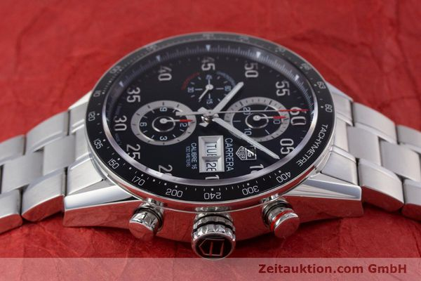Used luxury watch Tag Heuer Carrera chronograph steel automatic Kal. 16 Ref. CV2410  | 153434 05
