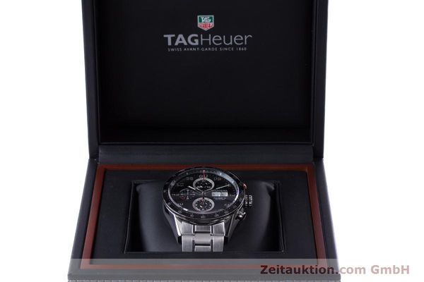 Used luxury watch Tag Heuer Carrera chronograph steel automatic Kal. 16 Ref. CV2410  | 153434 07