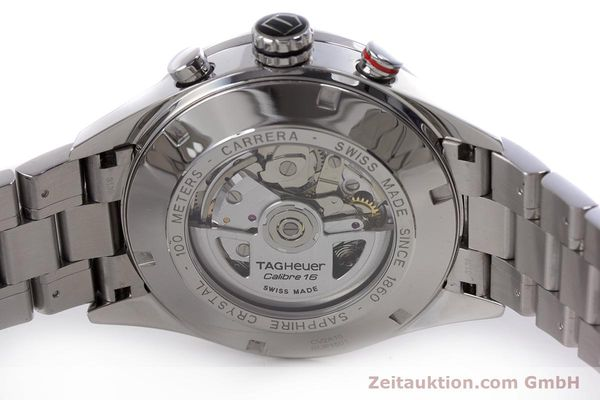 Used luxury watch Tag Heuer Carrera chronograph steel automatic Kal. 16 Ref. CV2410  | 153434 09