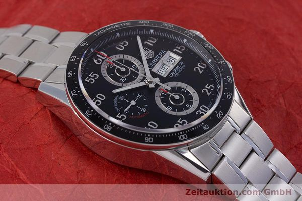 Used luxury watch Tag Heuer Carrera chronograph steel automatic Kal. 16 Ref. CV2410  | 153434 16