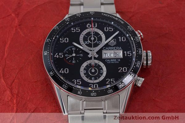 Used luxury watch Tag Heuer Carrera chronograph steel automatic Kal. 16 Ref. CV2410  | 153434 17