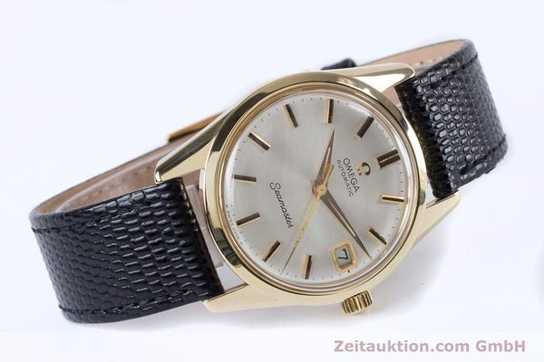 Used luxury watch Omega Seamaster 14 ct yellow gold automatic Kal. 562  | 153442 03