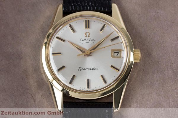 Used luxury watch Omega Seamaster 14 ct yellow gold automatic Kal. 562  | 153442 15