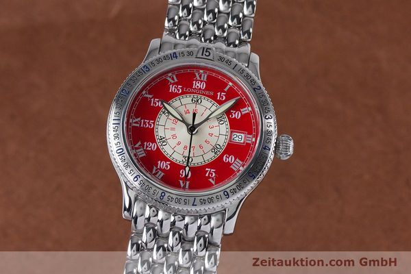 Used luxury watch Longines Lindbergh Stundenwinkel steel automatic Kal. L619.2 ETA 2892 A2 Ref. L2.617.4  | 153443 04