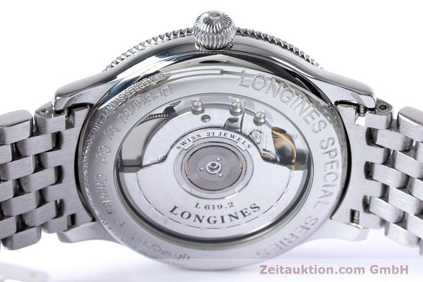 Used luxury watch Longines Lindbergh Stundenwinkel steel automatic Kal. L619.2 ETA 2892 A2 Ref. L2.617.4  | 153443 11
