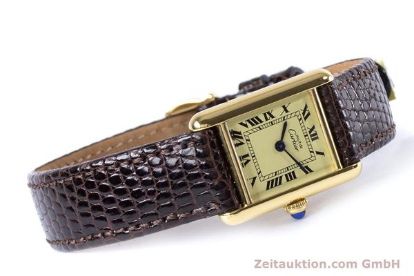 Used luxury watch Cartier Tank silver-gilt quartz Kal. 057.06  | 153447 03