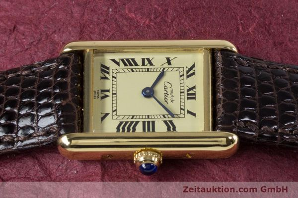 Used luxury watch Cartier Tank silver-gilt quartz Kal. 057.06  | 153447 05