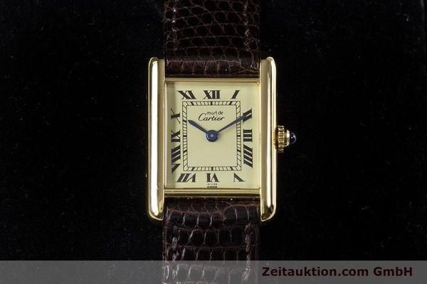 Used luxury watch Cartier Tank silver-gilt quartz Kal. 057.06  | 153447 07