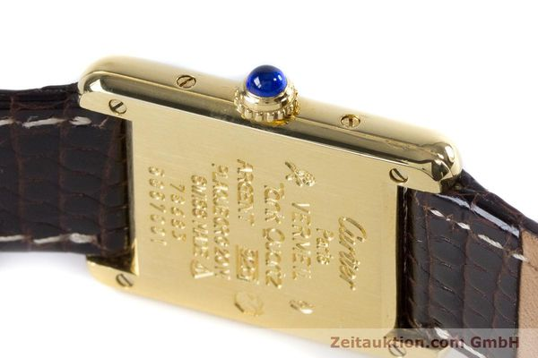 Used luxury watch Cartier Tank silver-gilt quartz Kal. 057.06  | 153447 08
