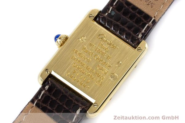 Used luxury watch Cartier Tank silver-gilt quartz Kal. 057.06  | 153447 09