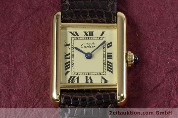 Used luxury watch Cartier Tank silver-gilt quartz Kal. 057.06  | 153447 13