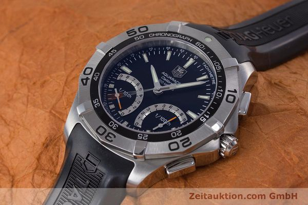 Used luxury watch Tag Heuer Aquaracer chronograph steel quartz Kal. S Ref. CAF7010  | 153449 01
