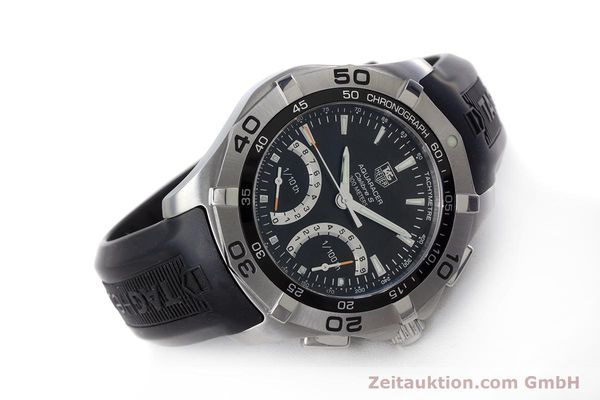 Used luxury watch Tag Heuer Aquaracer chronograph steel quartz Kal. S Ref. CAF7010  | 153449 03