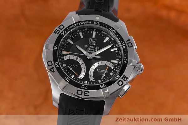 Used luxury watch Tag Heuer Aquaracer chronograph steel quartz Kal. S Ref. CAF7010  | 153449 04